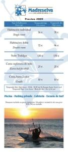 Hotel Madreselva precios 2009