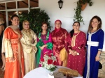 Left to right: Khadija - Califa Manager, Mother of the bride, Aisha - Califa cook, Khinsa - Califa cook, Amina - Califa pastry chef, Carmen Stuart