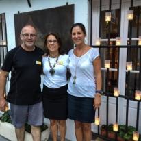 Bernardo, Toñi, Nuria en La Casa del Califa